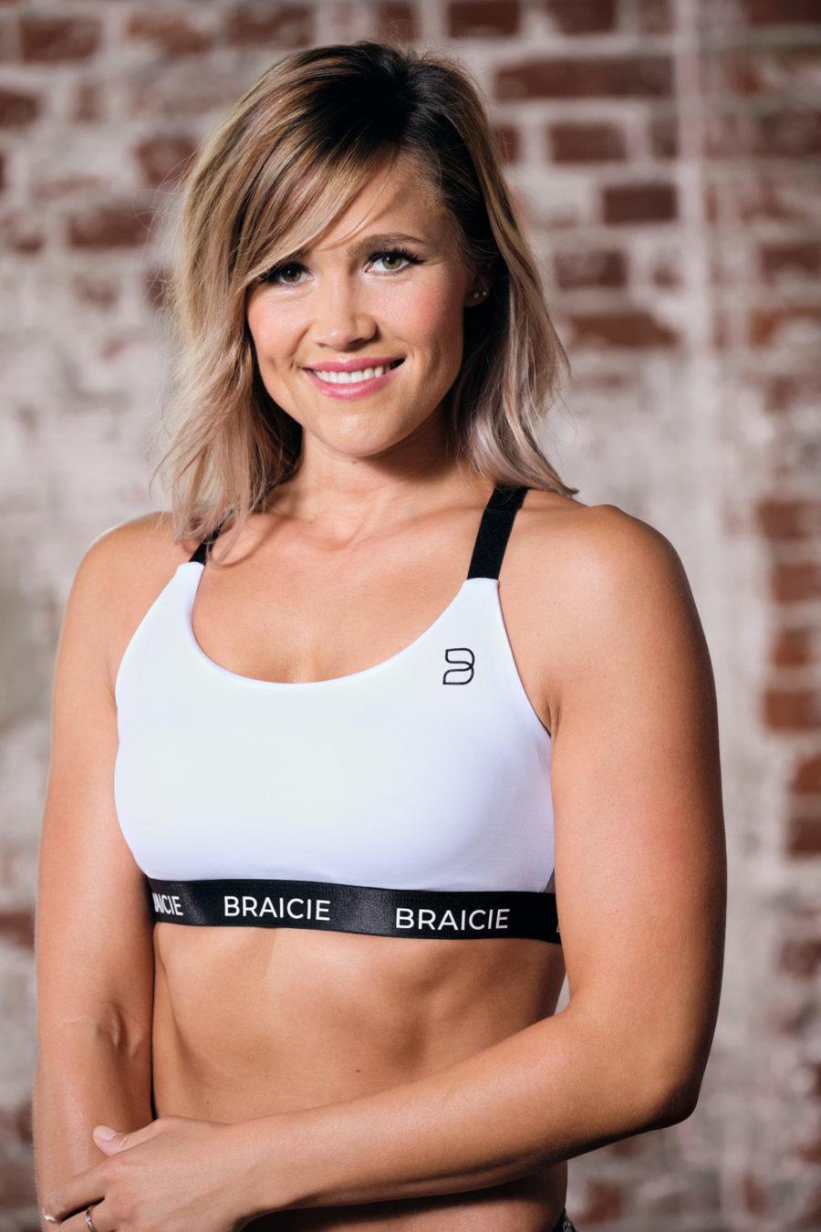b.proud Empower Sport-BH in white-black