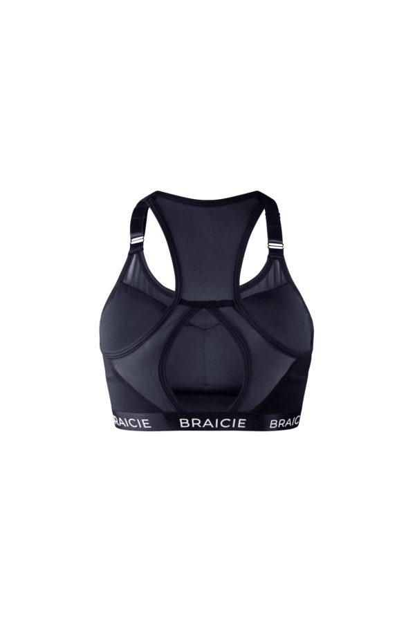 Damen Sport-BH schwarz mit starkem Halt zum Laufen, Boxen, Kraftsport