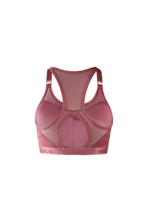Damen Sport-BH rosa mit starkem Halt zum Laufen, Boxen, Kraftsport