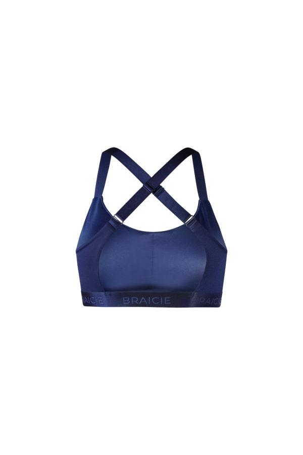 Funktionaler Damen Sport-BH blau mit starkem Halt zum Laufen