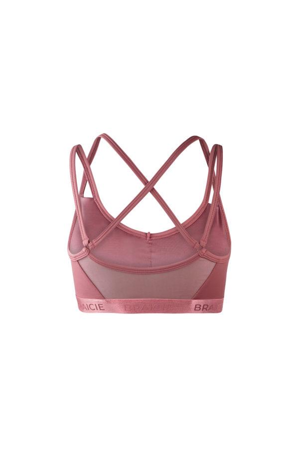 Damen Sport-BH rosa mit herausnehmbaren Cups und Push Up für Fitness
