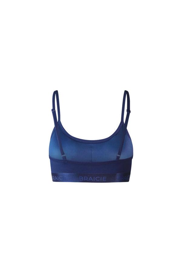 Atmungsaktiver Damen Sport-BH blau für Yoga und Pilates oder Fitness