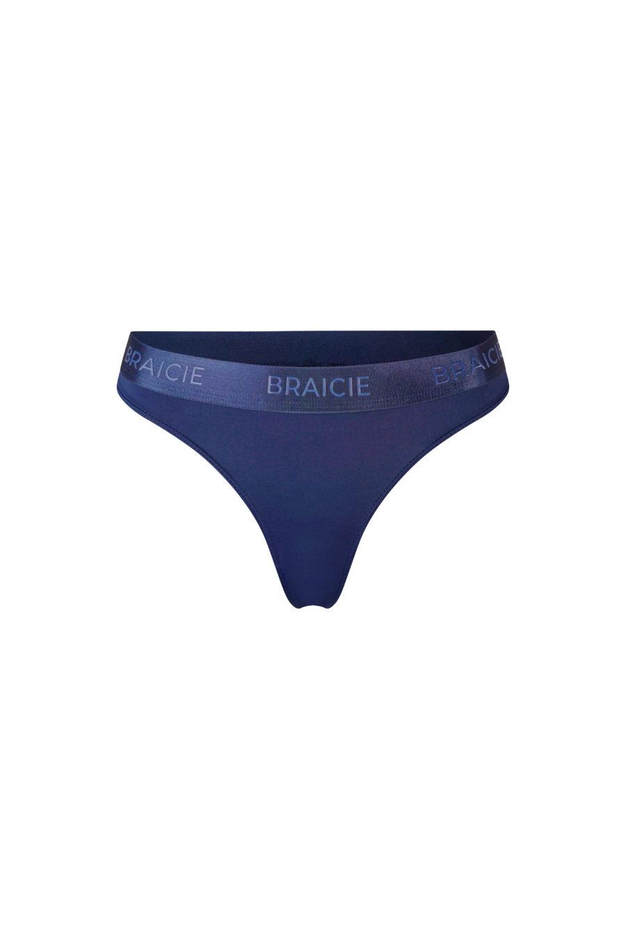 Funktionaler und atmungsaktiver Damen Sport-String blau für Fitness